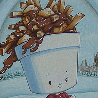 Acrylic painting POUTINE by Cindy Scaife
