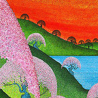 Print Cherry Blossoms  by Lawrie  Dignan