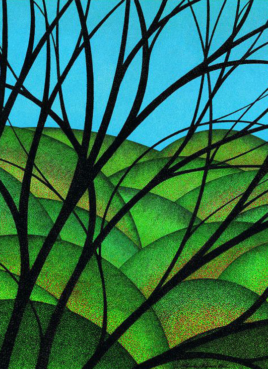 Print Looking Through Branches 6  by Lawrie  Dignan