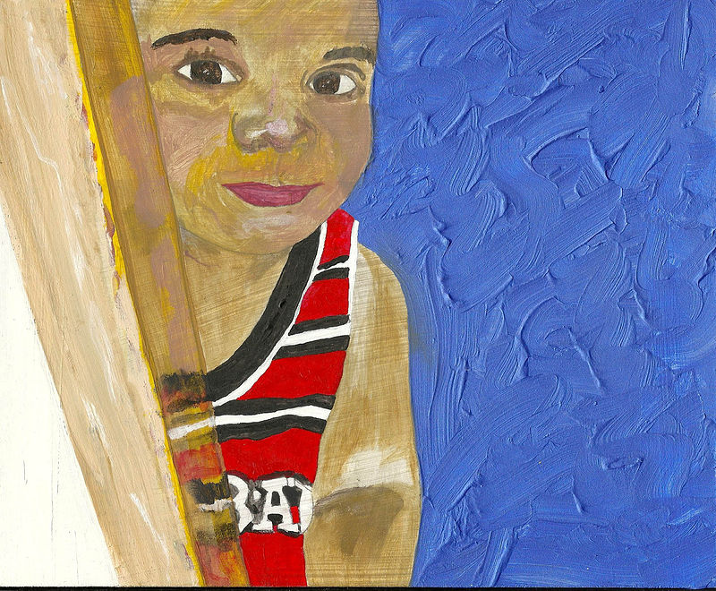 "Acrylic painting ""peek a boo""1 by anthony Ziegler"