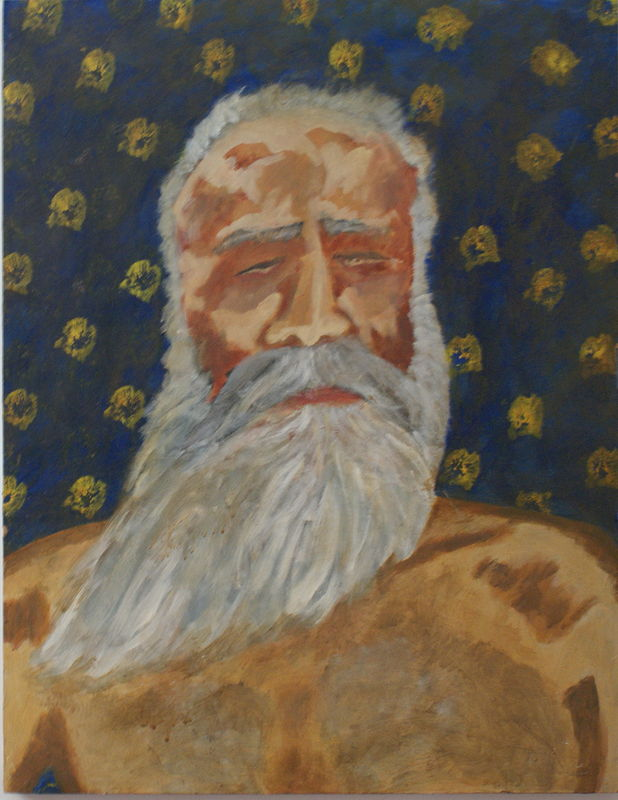 Acrylic painting in old age by anthony Ziegler