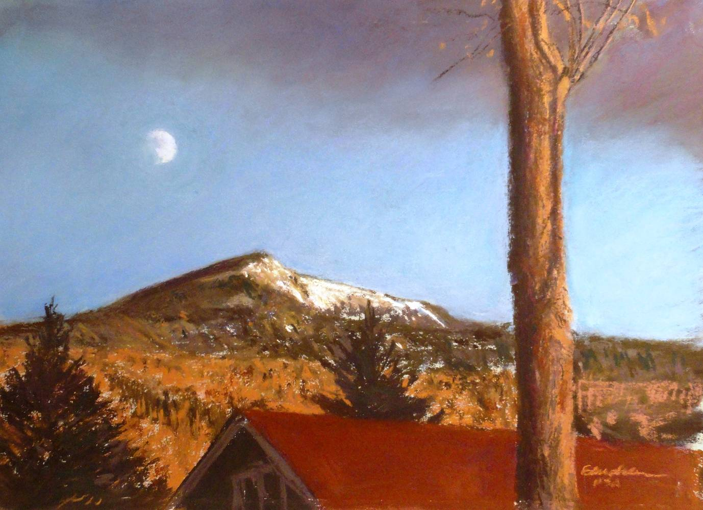 Daytime Moon -Noonmark Mt.  by Michael  Gaudreau