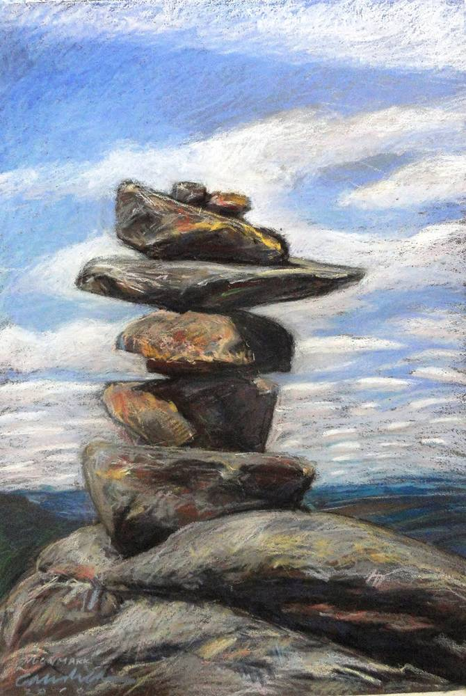 Cairn on Noonmark 18x24 by Michael Gaudreau