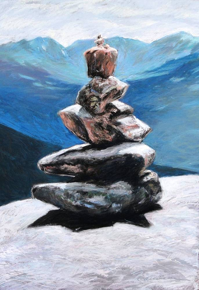 Cairn on Big Crow by Michael  Gaudreau