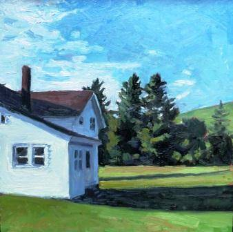 Keene Valley House 10x10 (High peaks show) by Michael  Gaudreau