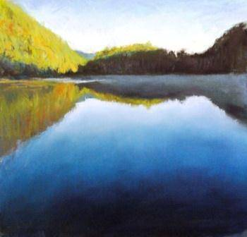 chapel  pond- Glimmer 14x14in by Michael Gaudreau