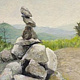 big crow cairn 16x20 by Michael  Gaudreau