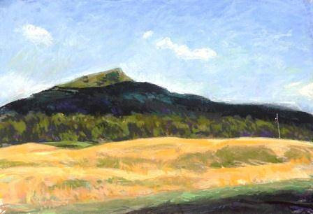 Noonmark mt(from Ausable Club) 12x17 pastel mat-28x21in by Michael  Gaudreau