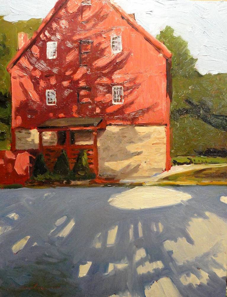 Jerusalem Mill 11x14 oil sold by Michael Gaudreau