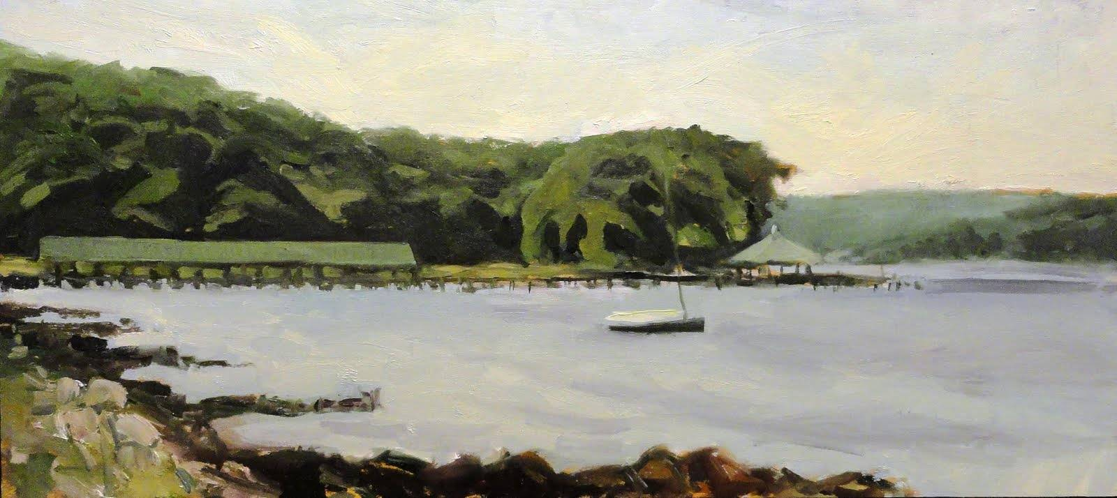 Painting Severn River Summer 12x24in by Michael  Gaudreau