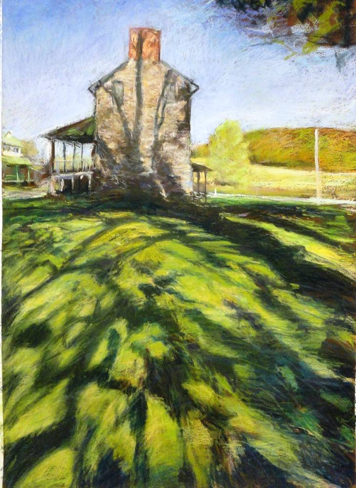 jerusalem mill 18x24  pastel by Michael  Gaudreau