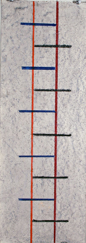 Drawing Gray Ladder by Gary Eleinko