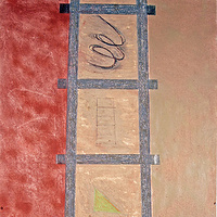 Painting Symbolic Ladder by Gary Eleinko
