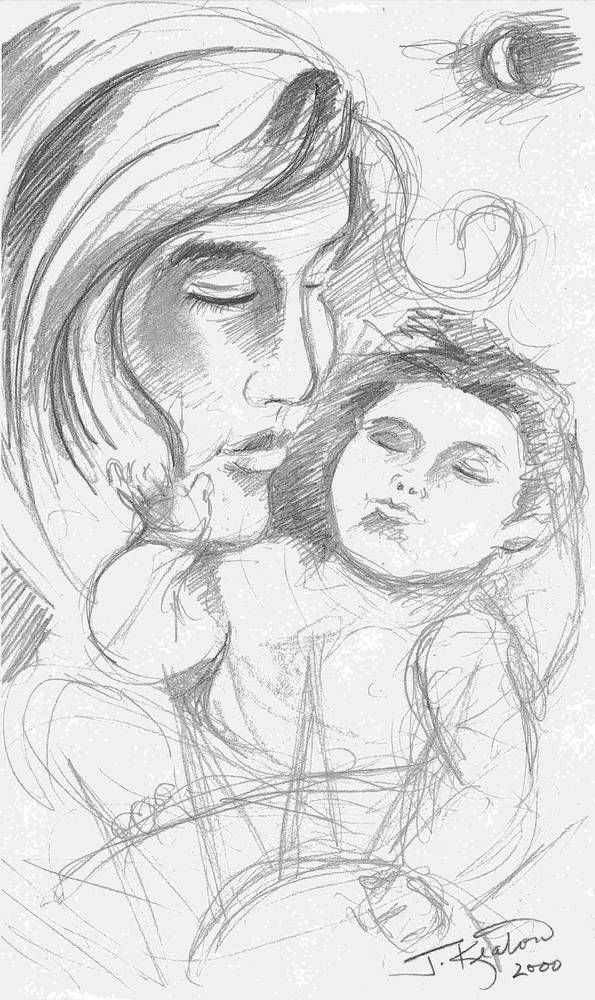 Mother and Child 3 by John Keaton