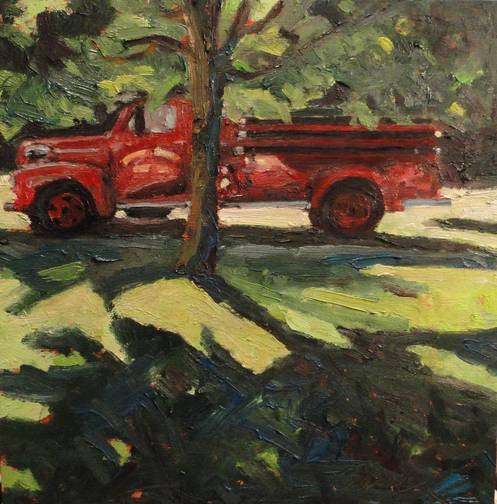 Keene Valley Days  10x10in oil by Michael  Gaudreau
