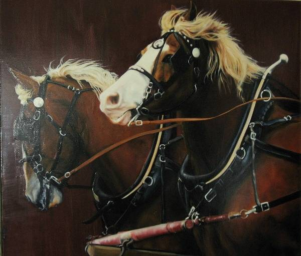 Oil painting Belgian Beauties by Judith  Elsasser