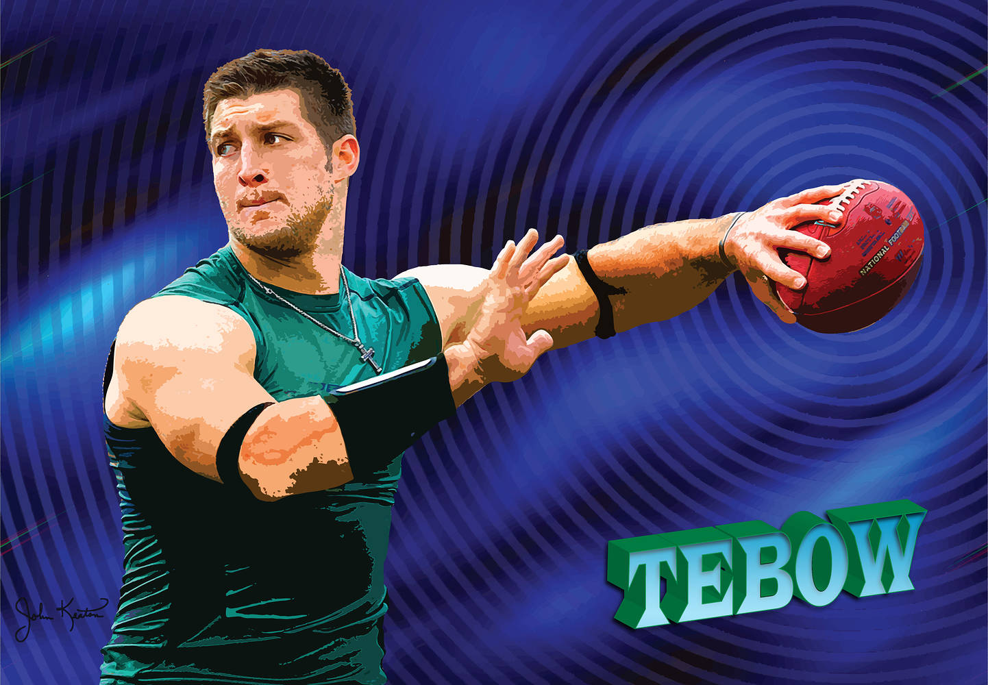 Tim Tebow by John Keaton