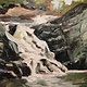 Hulls Falls 9x9in oil on paper by Michael  Gaudreau