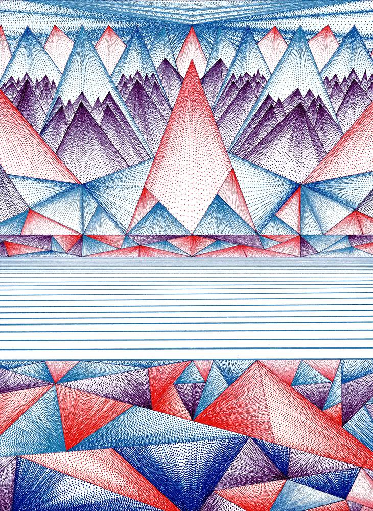 Print Triangle Mountain by Lawrie  Dignan