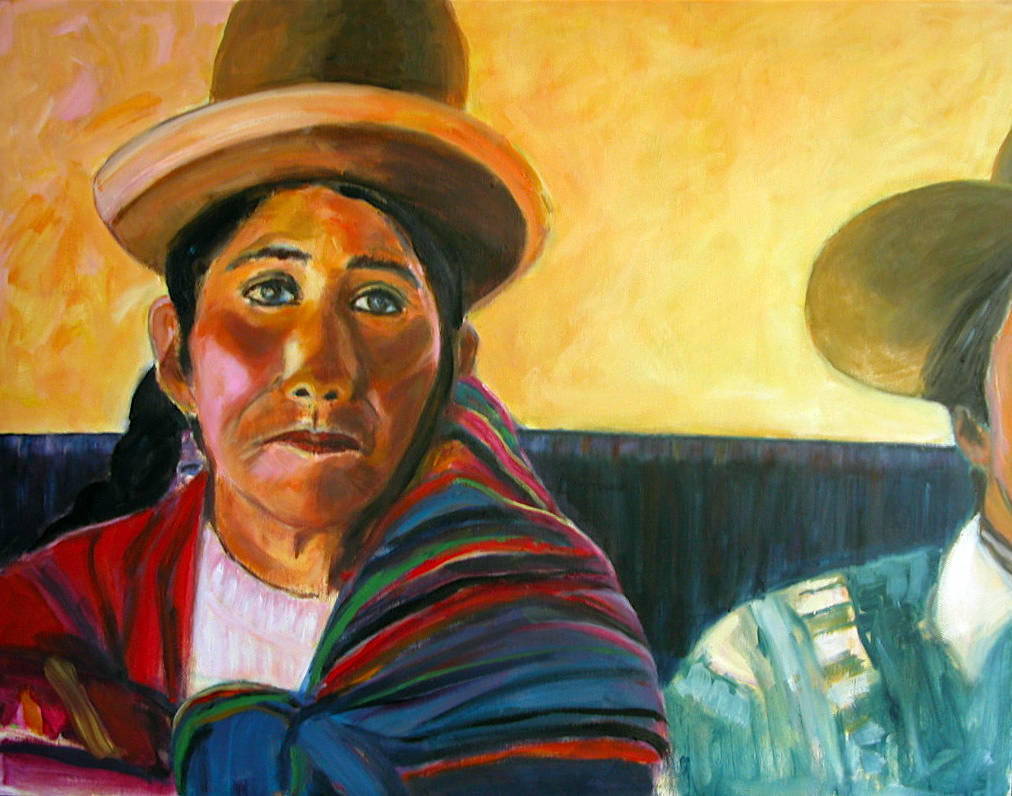 Oil painting Peru by Olga De klein