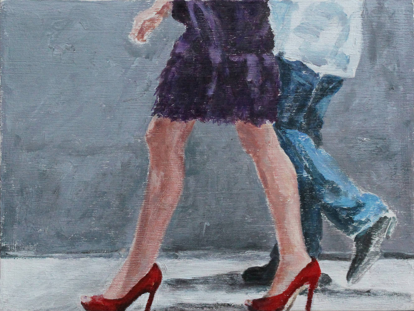 Acrylic painting Shoe Series I by Olga De klein