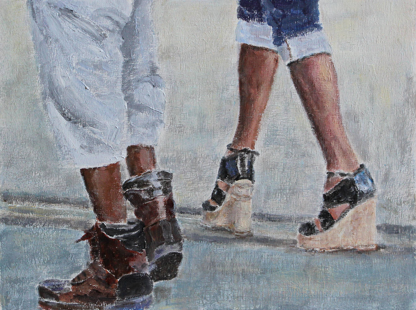 Acrylic painting Shoe Series II by Olga De klein