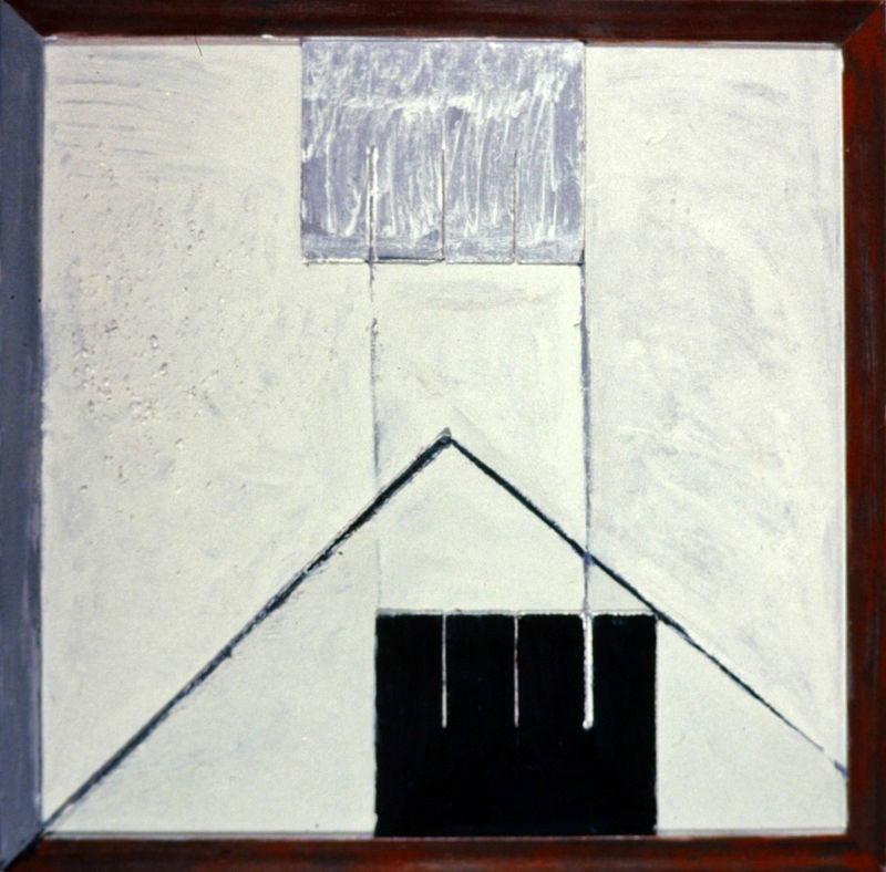 Oil painting Square Construction by Gary Eleinko