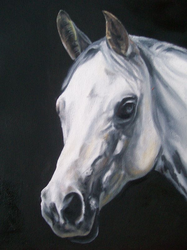 Oil painting The White Horse by Richard Mountford