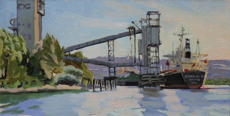 Oil painting Singapore Loading   by Shawn Demarest