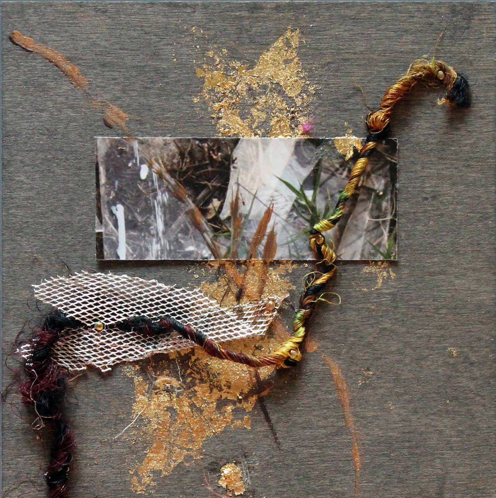 Mixed-media artwork Rhizome 8 by Olga De klein