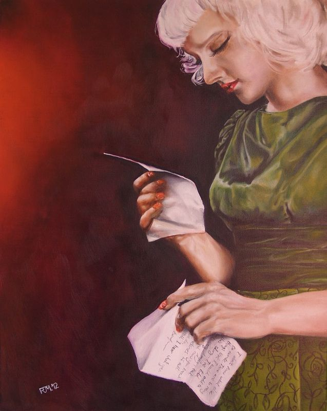 Oil painting The Letter - Sukki Singapora by Richard Mountford