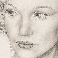 Print * Marylin pencil on paper by Richard Mountford