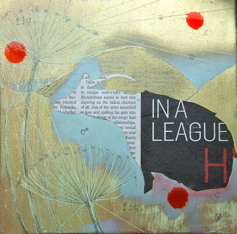 Mixed-media artwork lost language by David Keane