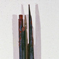 Oil painting Bound Poles #2 by Gary Eleinko