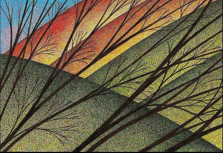 Print October Branches by Lawrie  Dignan