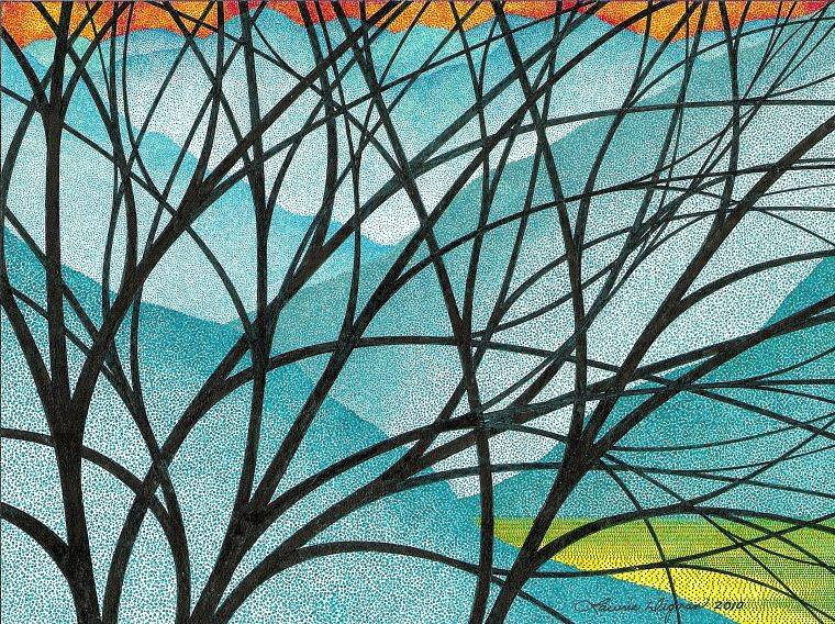 Drawing Blue Hills Through Branches by Lawrie  Dignan