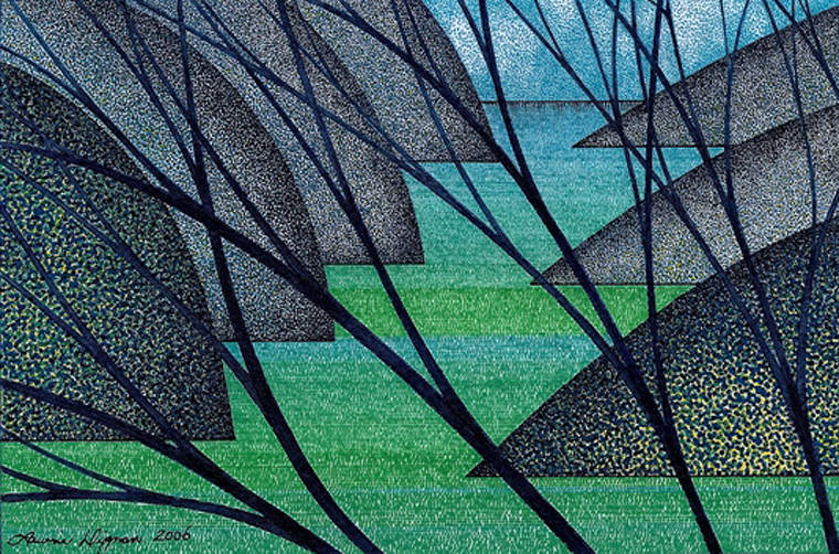 Drawing Little Blue Branches  by Lawrie  Dignan