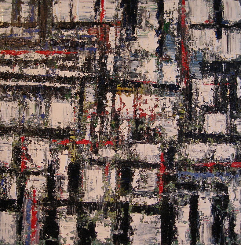 Acrylic painting Urban Rhythms No. 9 by David Tycho