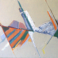 Oil painting Triangles by Gary Eleinko