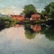 Havre de Grace Lockhouse 9x12 oil by Michael  Gaudreau