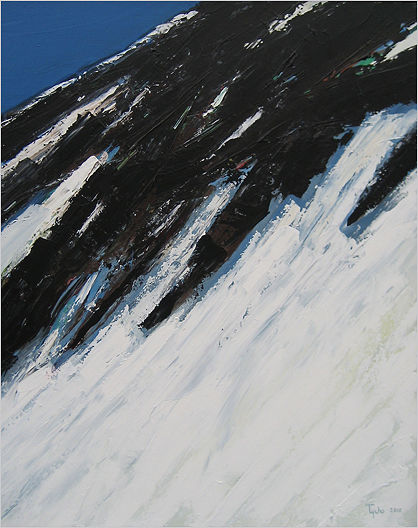 Acrylic painting Black Tusk No. 25 by David Tycho