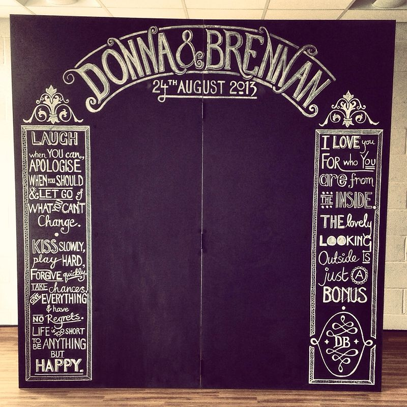 Donna & Brennan's Wedding Chalkboard by ROSE WILLIAMS
