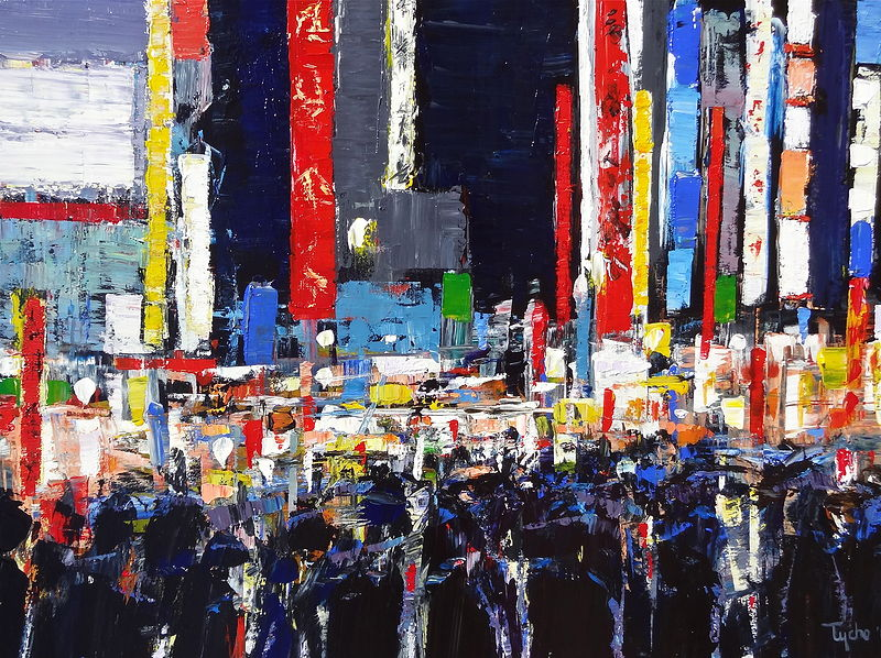 Acrylic painting  Shibuya #2 by David Tycho