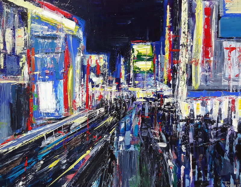 Acrylic painting Shibuya #1 by David Tycho