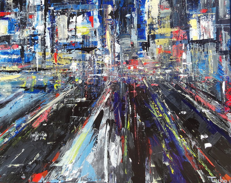 Acrylic painting Shinjuku #1 by David Tycho