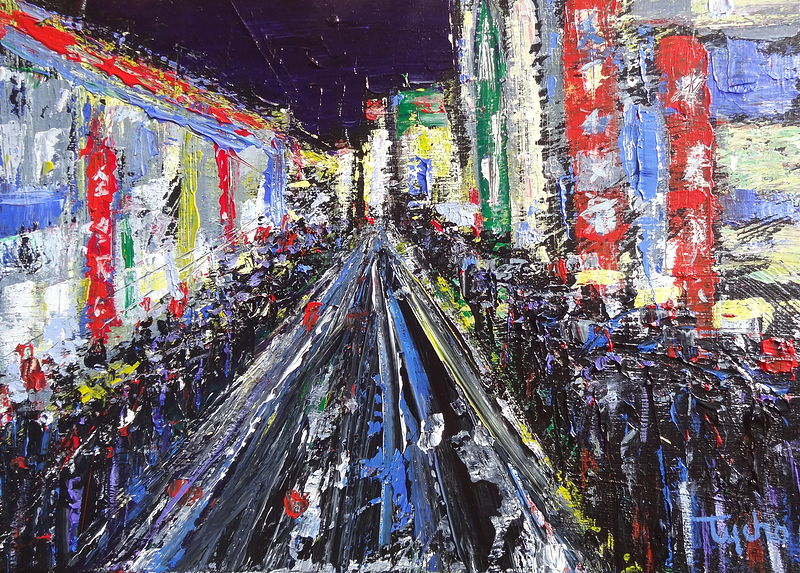 Acrylic painting Tokyo Study  by David Tycho