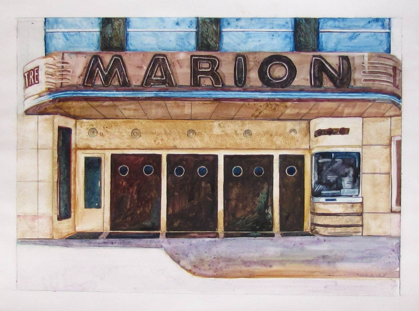 Watercolor The Marion by Paul Sershon