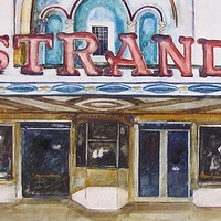 Watercolor The Strand by Paul Sershon
