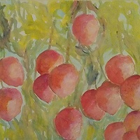 Acrylic painting Summer Fruit 1 by Gwenda Branjerdporn