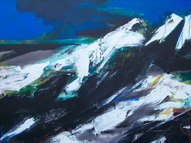 Acrylic painting Black Tusk #1 by David Tycho